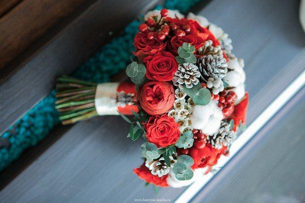 Зимний букет невесты Флорист Кристина Каберне Фото Екатерина Сказка