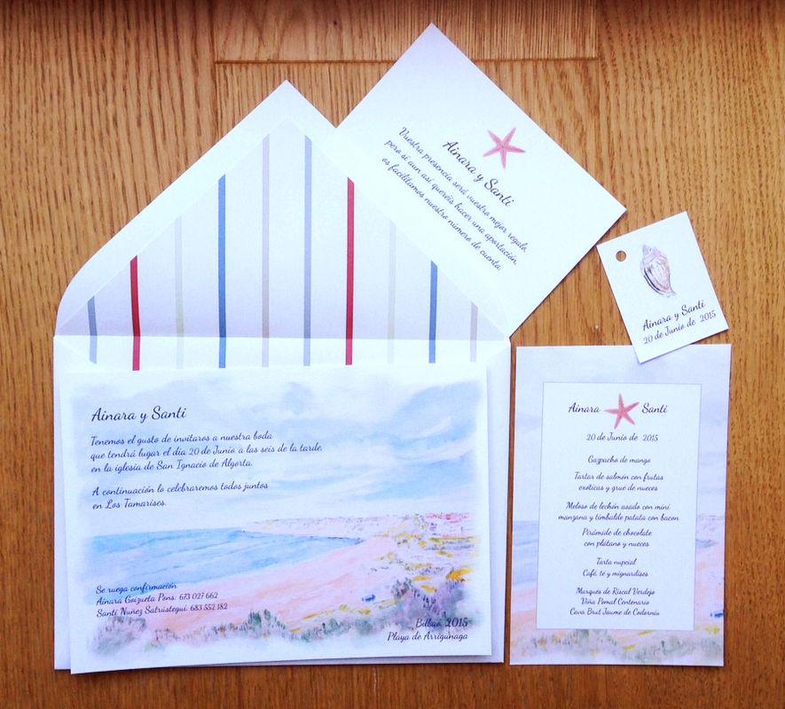 Conjunto de papelería de boda personalizado
