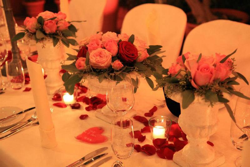 Beispiel: Florale Tischdekoration, Foto: Die Alte Gärtnerei.