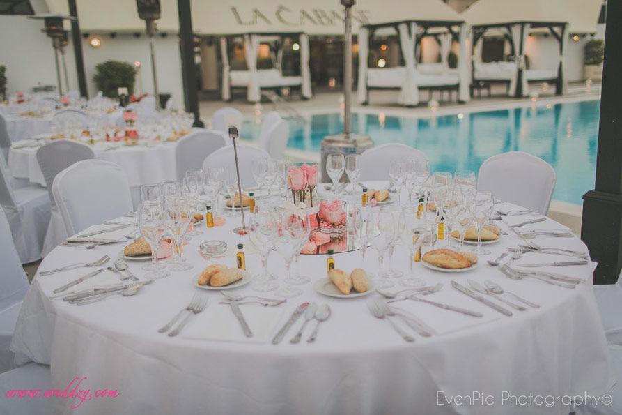 Mariage au bord d'une piscine / Hôtel Espagne
