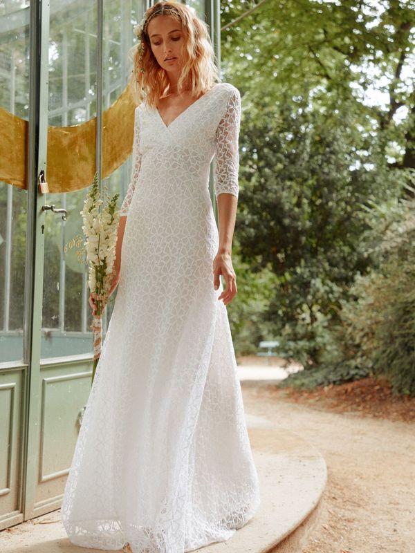 VALENTINA - Robe de mariée romantique en dentelle - Myphilosophy Paris