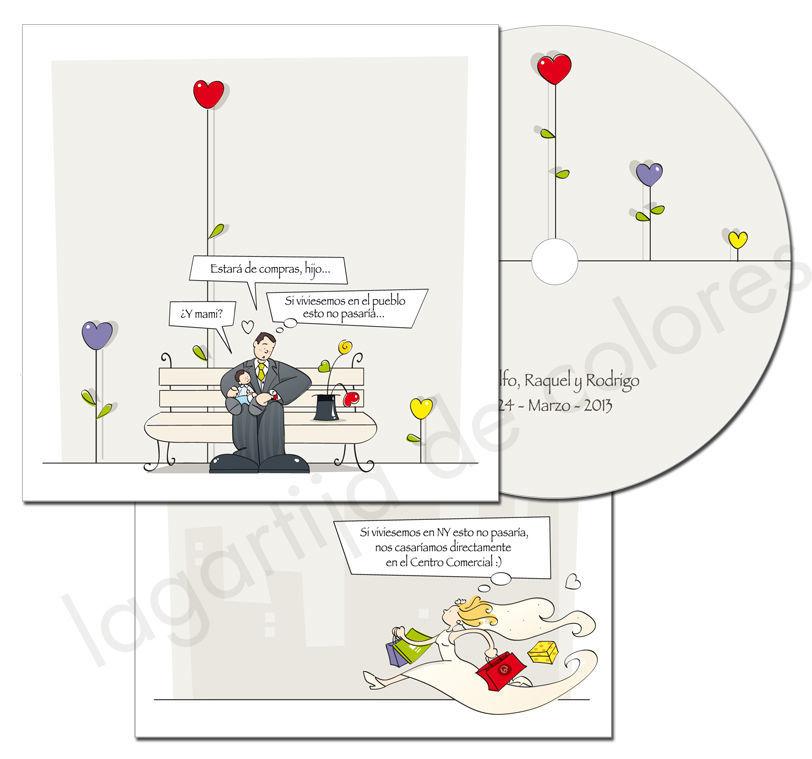 Invitación DVD; Montaje de fotos con ilustraciones, efectos y música.