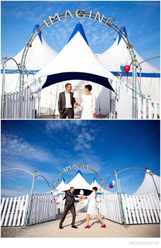 Mariage au Cirque par L'As de Coeur Photo + Cinéma Lyon