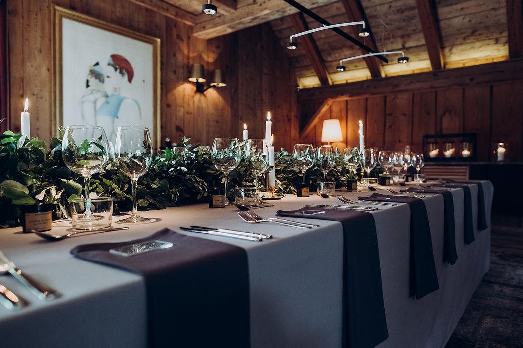 Organisation mariage Megève - Aurélie & David - Wedding Diner