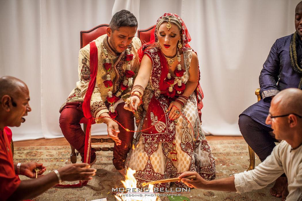 Moreno Belloni matrimonio indiano