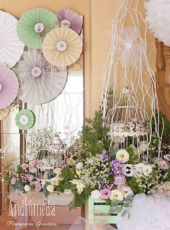 Decoración en casa de la novia