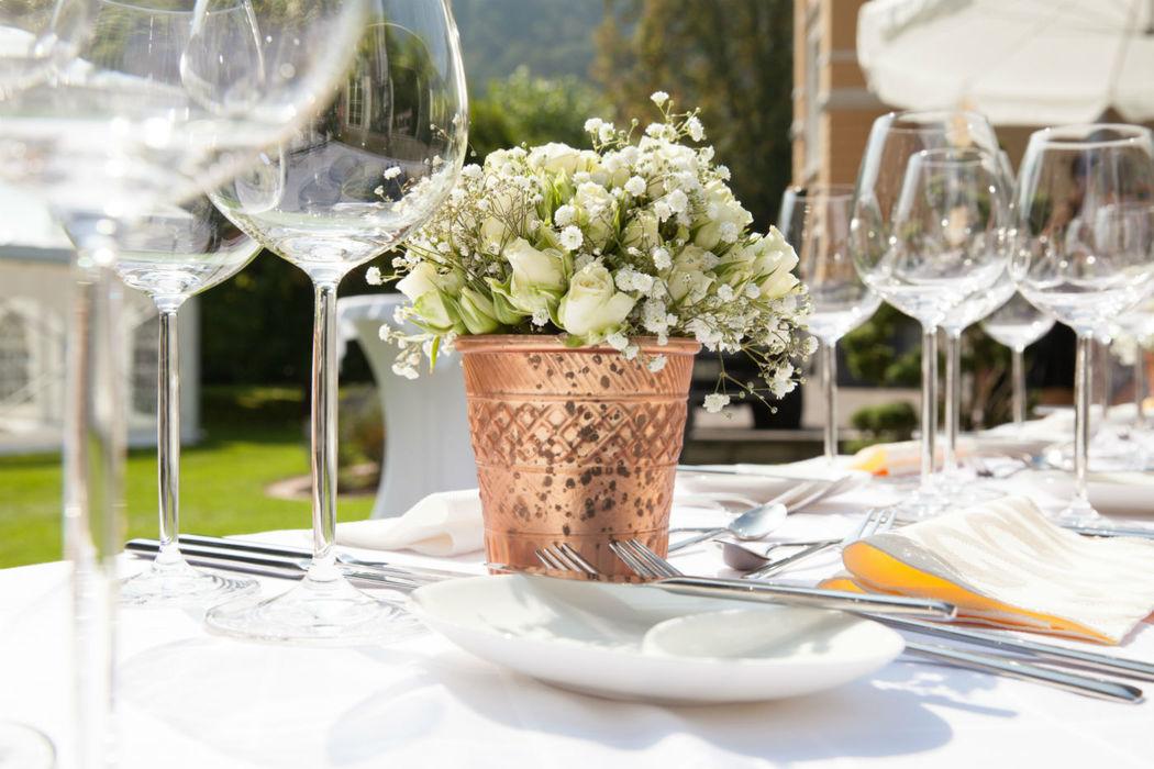 Beispiel: Hochzeitsdekoration, Foto: gelassen feiern Ihre Event Manufaktur.