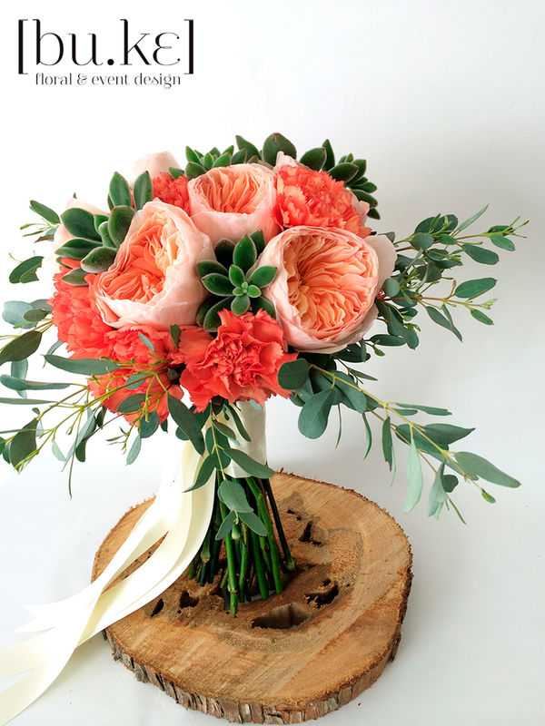 Bouquet de novia David Austin roses