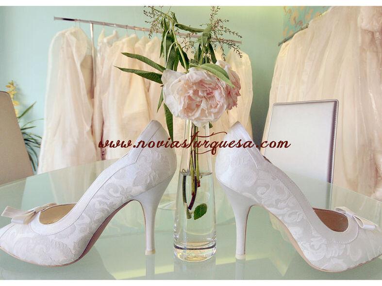 Turquesa Zapatos Novia