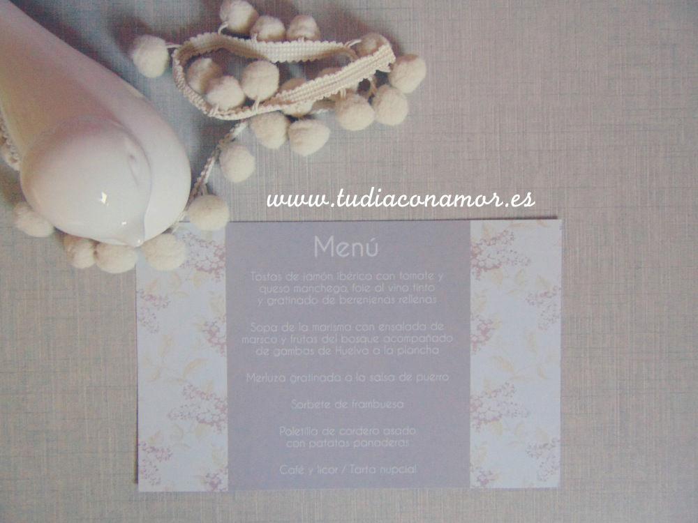 Invitación de boda romántica de estilo francés