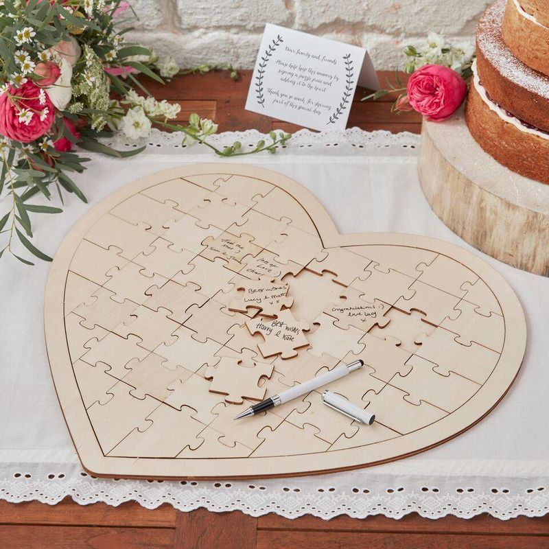 Guestbook Puzzle - Wedding Lovers