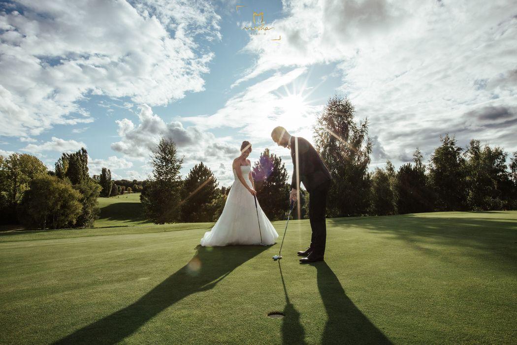 Mariage Blue Green Golf Bellefontaine studio mosha