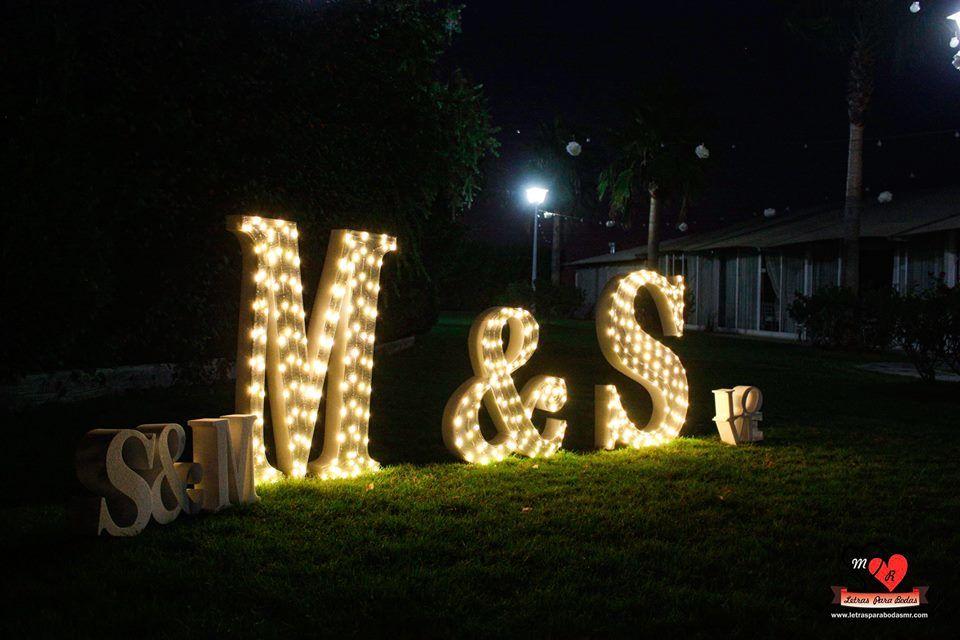 Letras para bodas MR