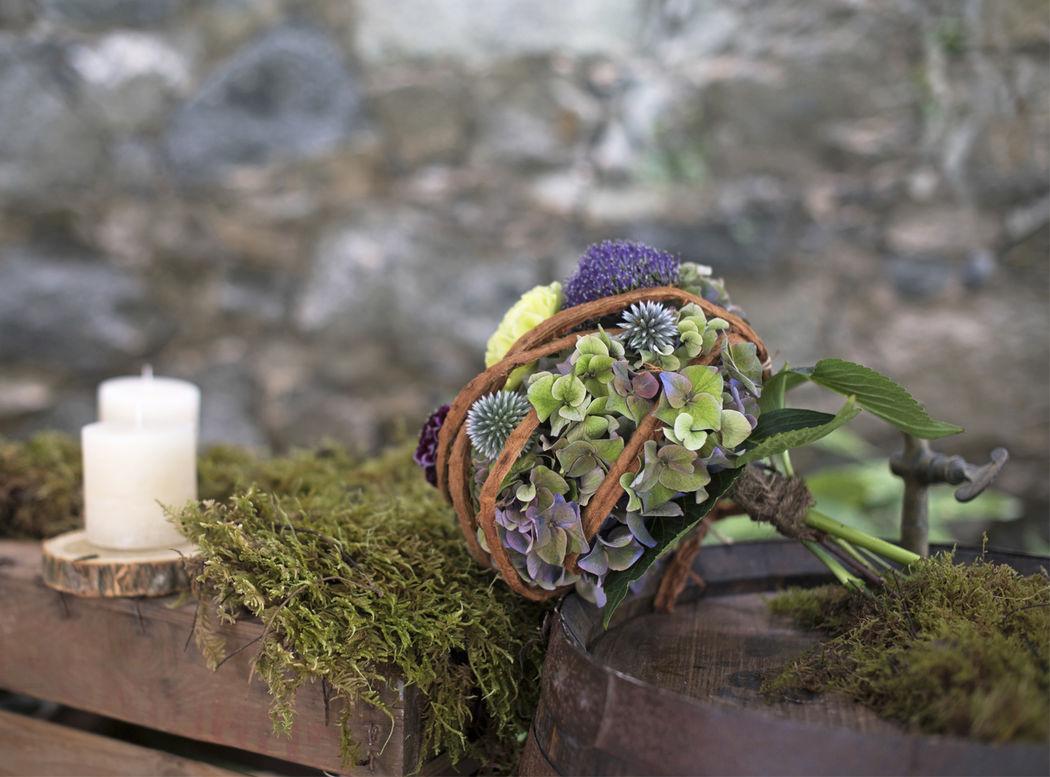Ramo de novia rústico Flowercap