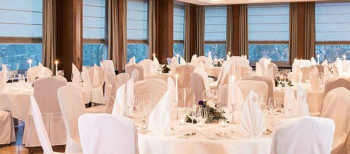 Beispiel: Hochzeitsdekoration, Foto: Althoff Hotel am Schlosspark.