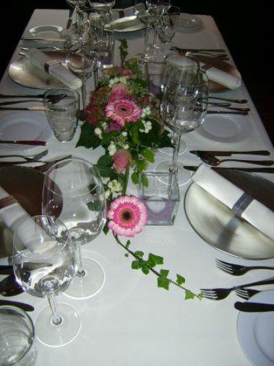 Beispiel: Tischschmuck, Foto: Die Blume.