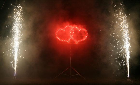 Beispiel: Feuerwerk, Foto: Seehotel Luisenhof.