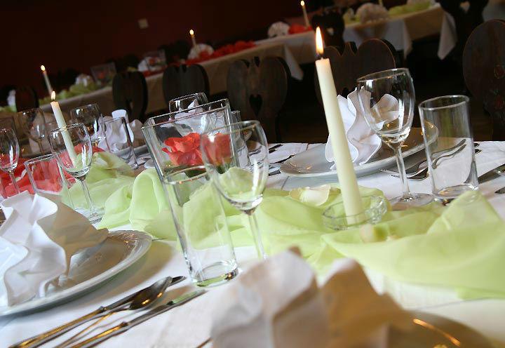 Beispiel: Tischdekoration, Foto: Restaurant Schottenhof.