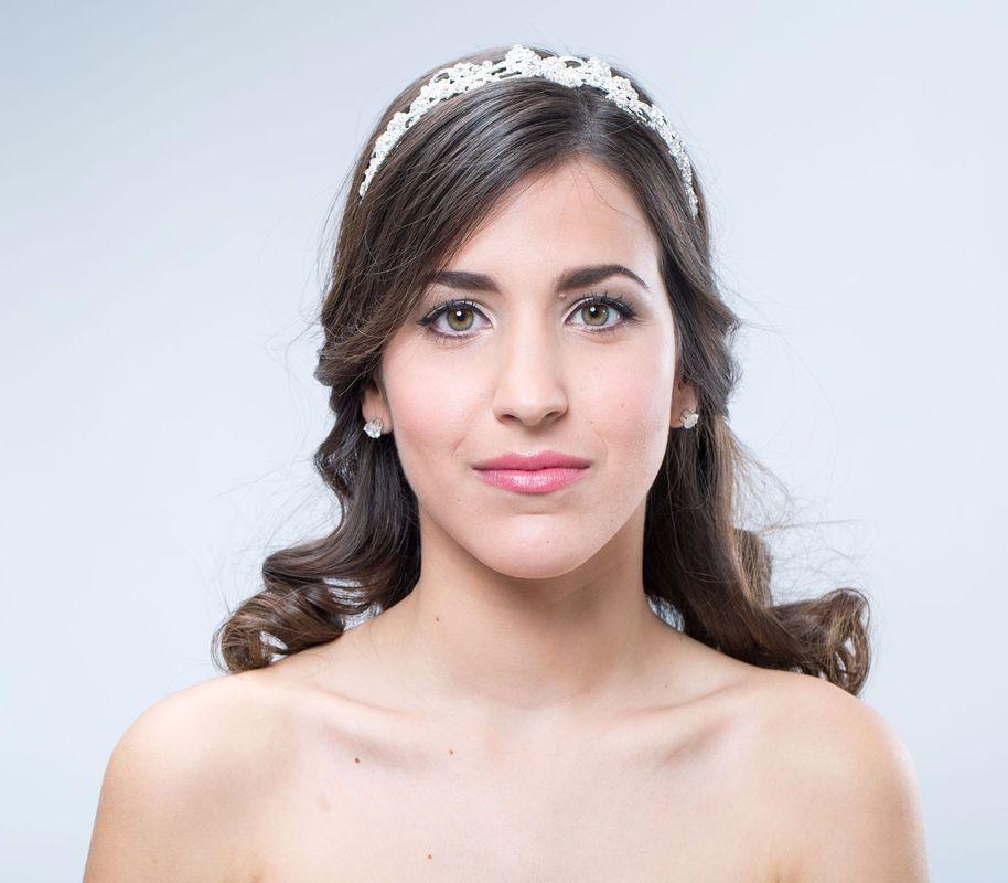 Tiara de novia, cristal.