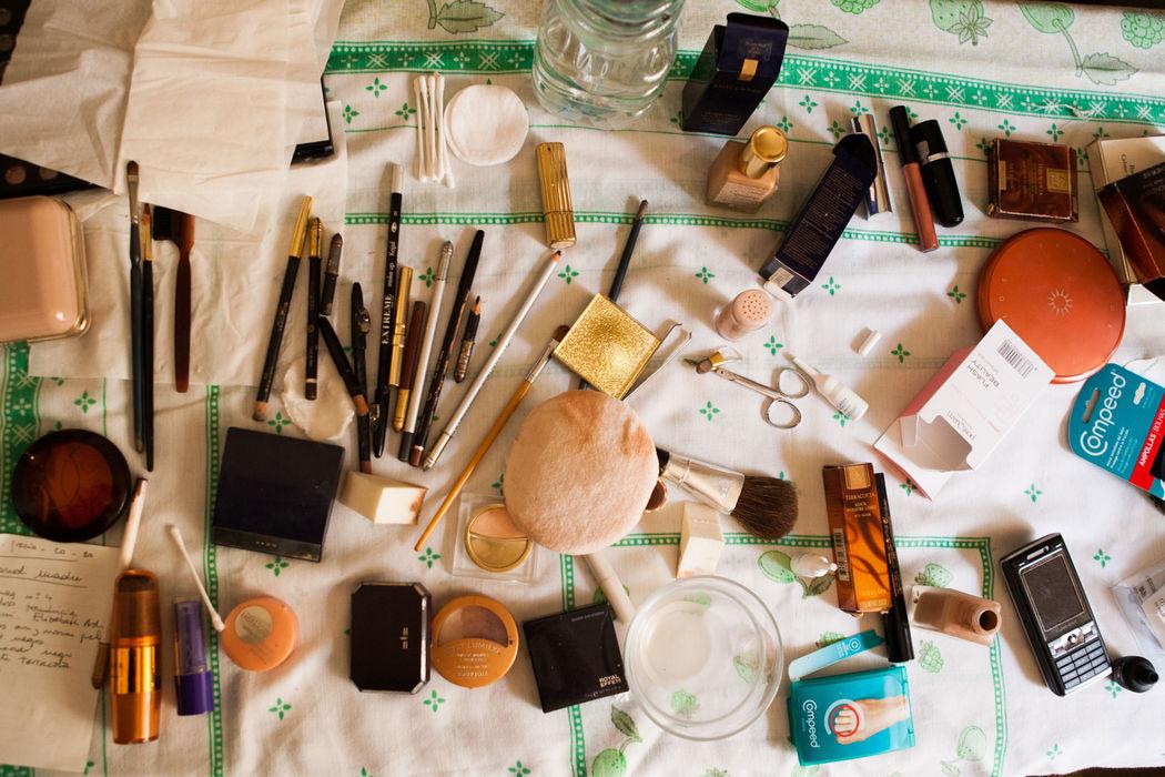 Detalle de maquillaje de Novia.