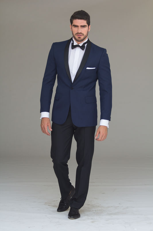 Tuxedo Azul !00% lana