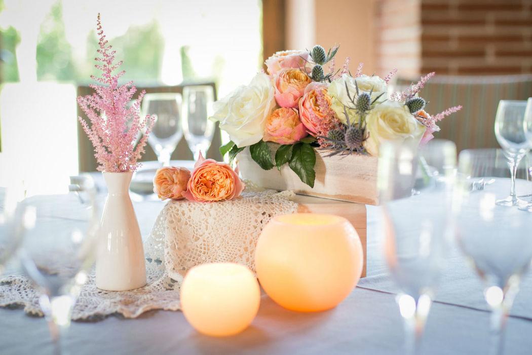 Composición floral para mesas