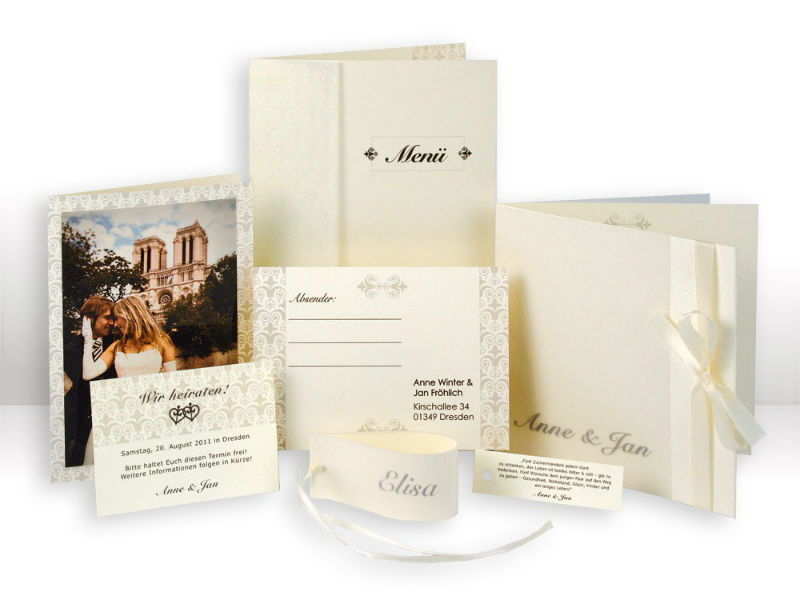 Beispiel: Kartenset Serie Elegance, Foto: Cloud9 Design.