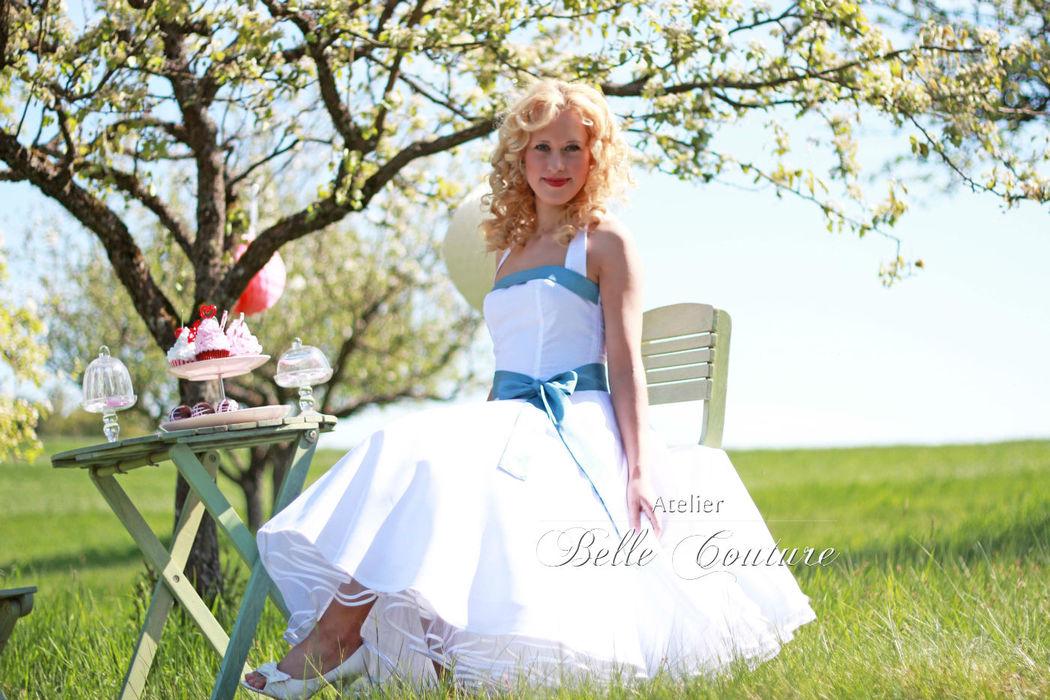 50er Jahre Petticoat Brautkleid mit Neckholder