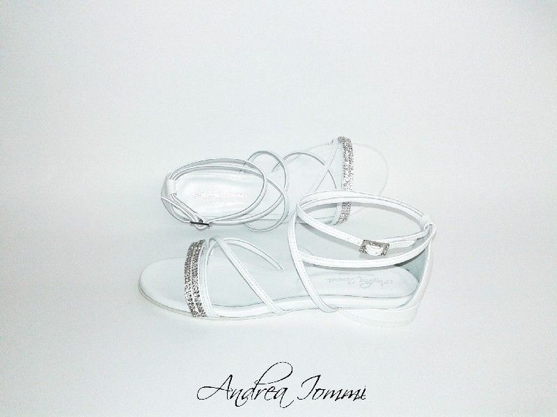 sandali da sposa tacco basso