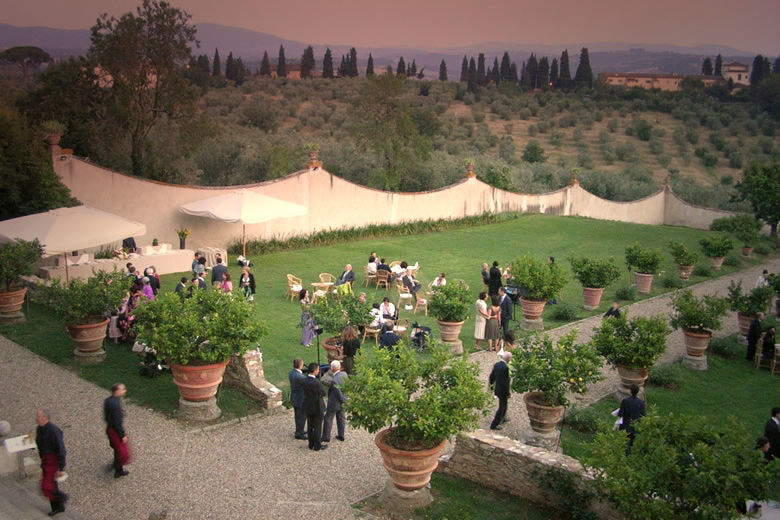Italian garden forspecial event or weddings