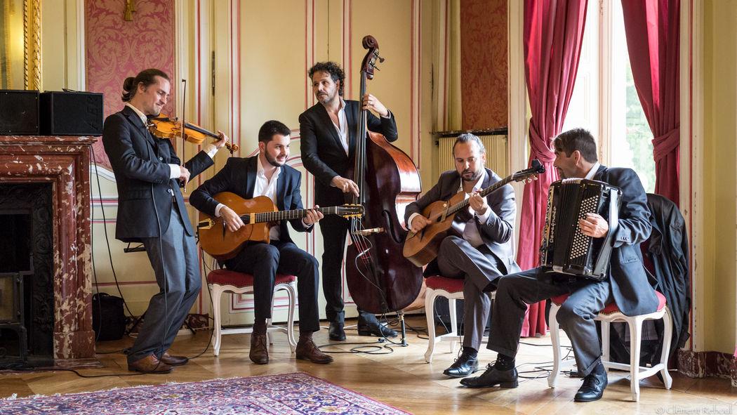 Quintette jazz manouche violon et accordéon http://www.jazz-manouche.clementreboul.com/