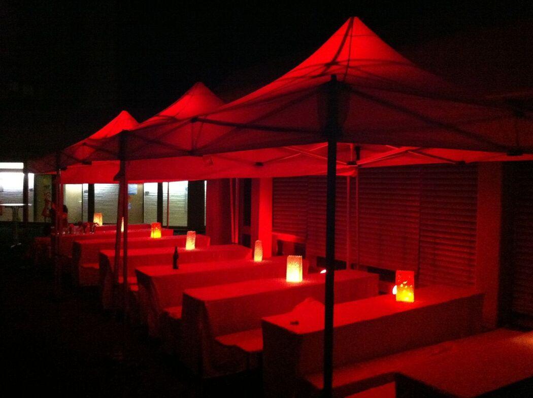 Beispiel: Aussenbeleuchtung, Foto: Profi-Hochzeitsdj.de.