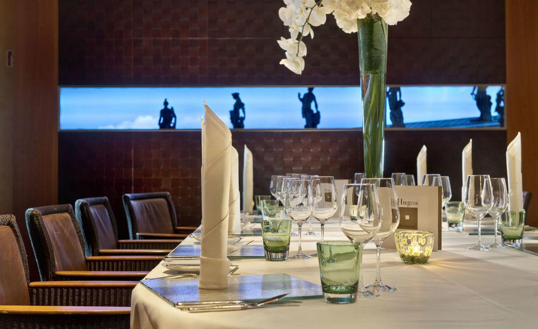 Beispiel: Tischdekoration, Foto: Hugos Restaurant.