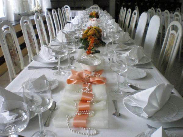 Beispiel: Tafel - Tischdekoration, Foto: Restaurant Rosenhof.