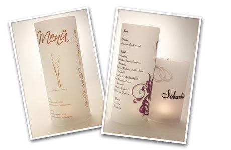 Aktionslicht.de: Menükarten und Tischkarten aus Windlichtern