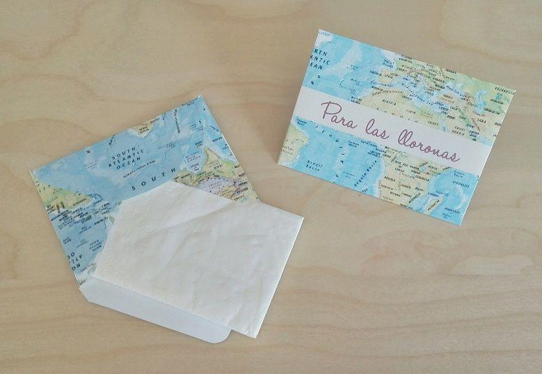 Sobres para Pañuelos Temática: Viajes (travel)