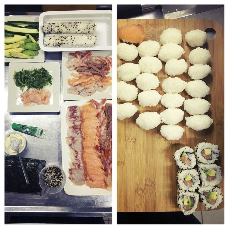 sushi corner - show cooking