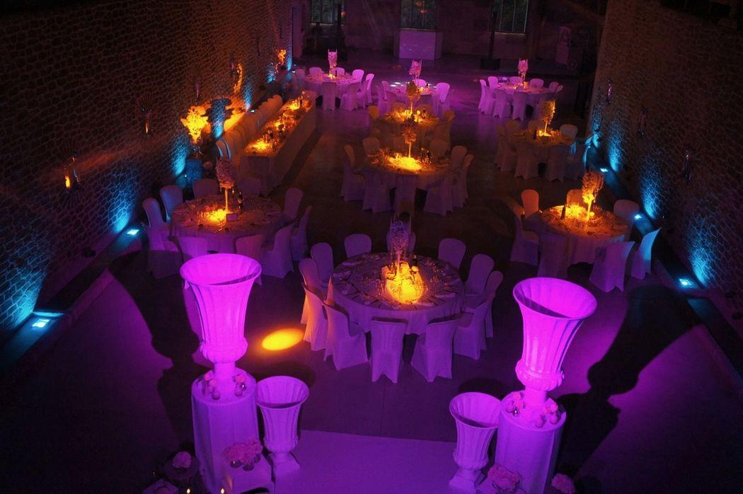 salle et mise en lumières