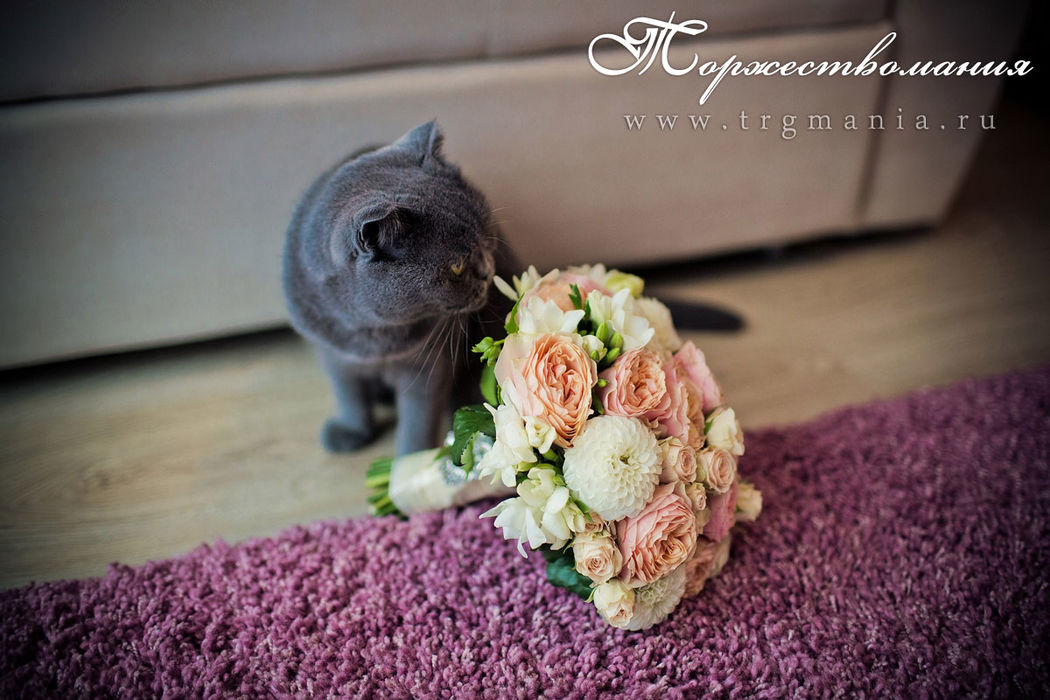 свадебный букет невесты от студии декора и флористики торжествомания