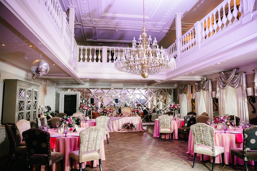 Оформление зала на свадьбе