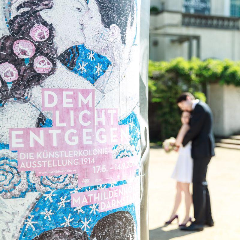 ... nach der standesamtlichen Trauung auf der Mathildenhöhe Darmstadt.