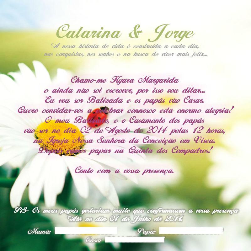Convite Batizado e Casamento