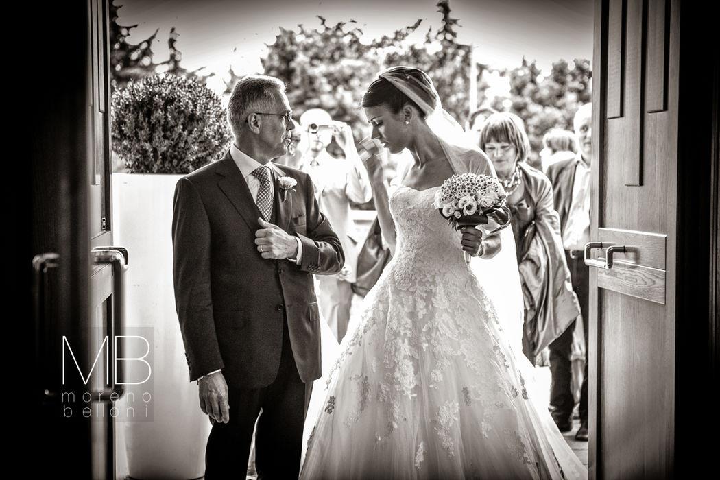 Moreno Belloni l'ingresso della sposa