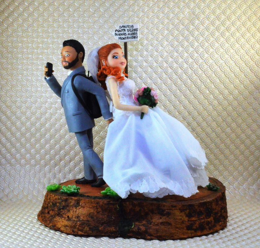Atelier Gaiotto - Noivinhos para topo de bolo