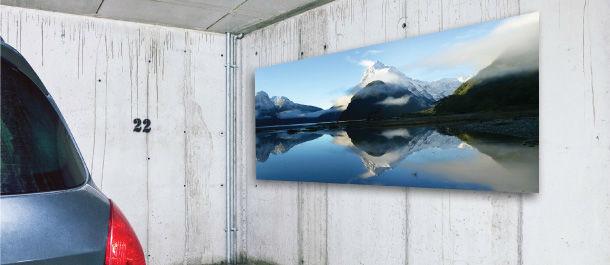 Poster auf Aluminium; Foto: Posterkönig