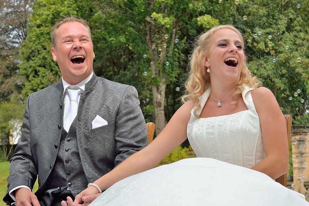 Een grapje is verteld tijdens de ceremonie...