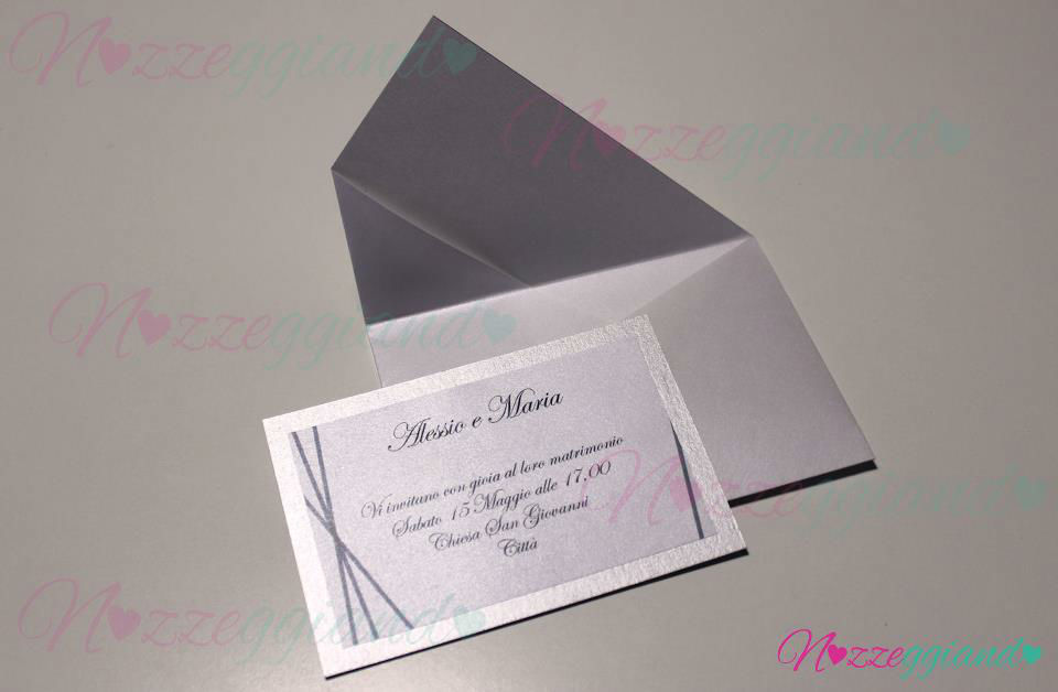 Partecipazione Origami Punta asimmetrica  - Nozzeggiando partecipazioni fatte a mano
