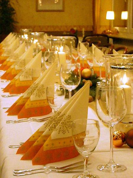 Beispiel: Tischdekoration, Foto: Hotel Dorn.