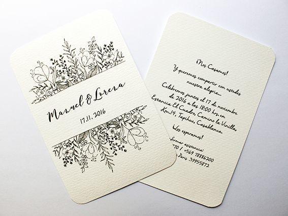 Invitación Minimal