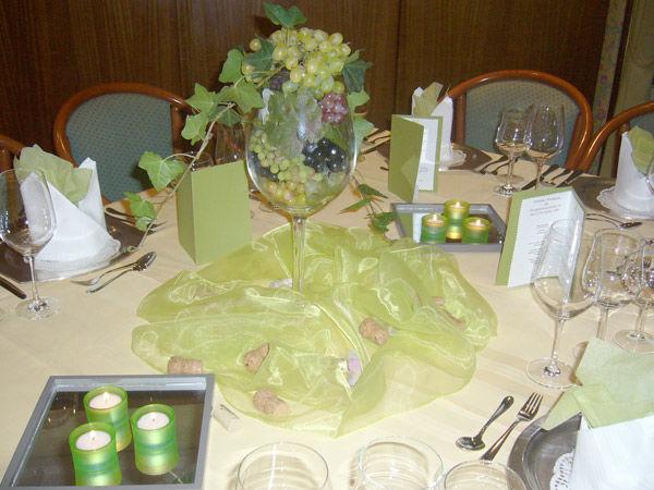 Beispiel: Tischdekoration, Foto: AKZENT Hotel Strandhalle.